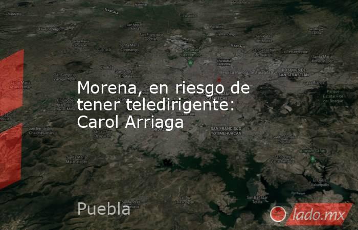 Morena, en riesgo de tener teledirigente: Carol Arriaga. Noticias en tiempo real
