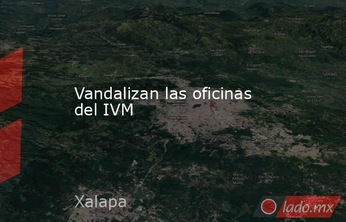 Vandalizan las oficinas del IVM. Noticias en tiempo real
