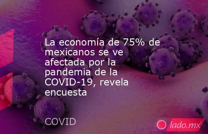 La economía de 75% de mexicanos se ve afectada por la pandemia de la COVID-19, revela encuesta. Noticias en tiempo real