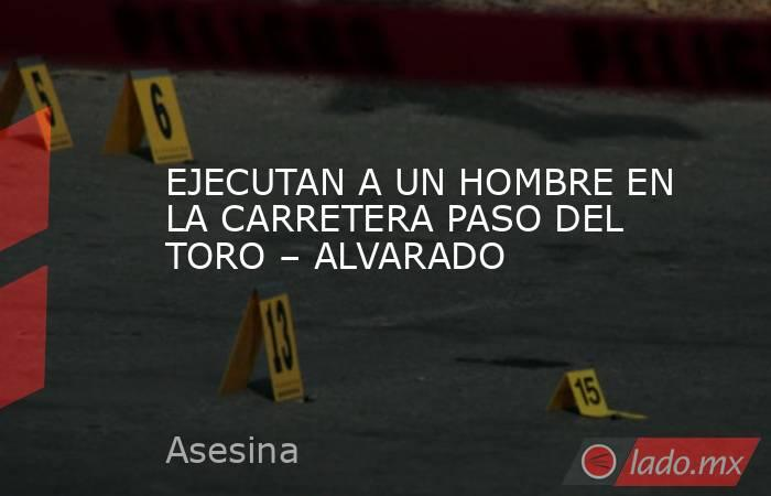 EJECUTAN A UN HOMBRE EN LA CARRETERA PASO DEL TORO – ALVARADO. Noticias en tiempo real