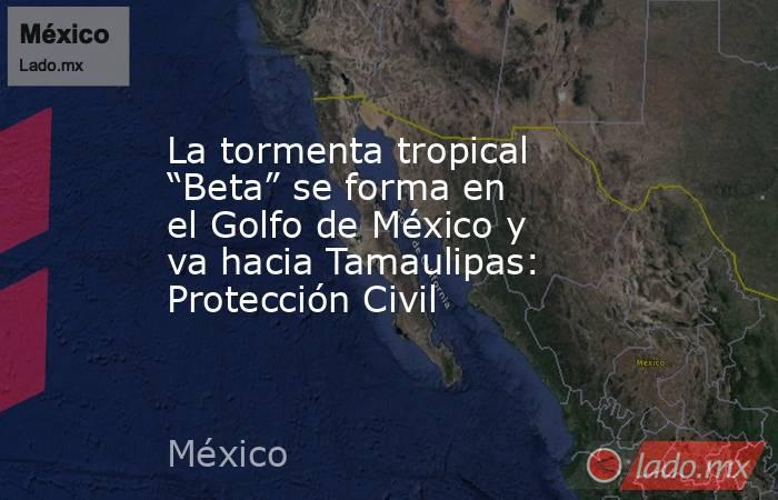"""La tormenta tropical """"Beta"""" se forma en el Golfo de México y va hacia Tamaulipas: Protección Civil. Noticias en tiempo real"""