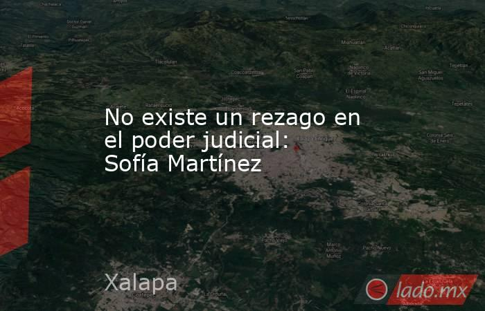 No existe un rezago en el poder judicial: Sofía Martínez. Noticias en tiempo real