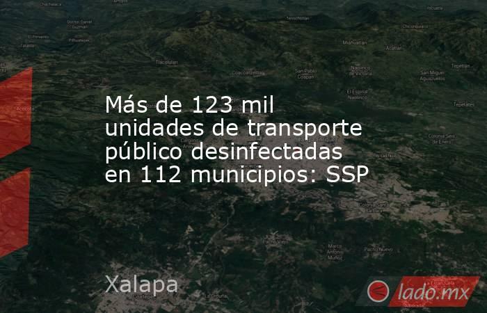Más de 123 mil unidades de transporte público desinfectadas en 112 municipios: SSP. Noticias en tiempo real