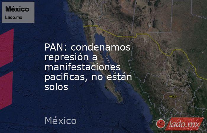PAN: condenamos represión a manifestaciones pacificas, no están solos. Noticias en tiempo real