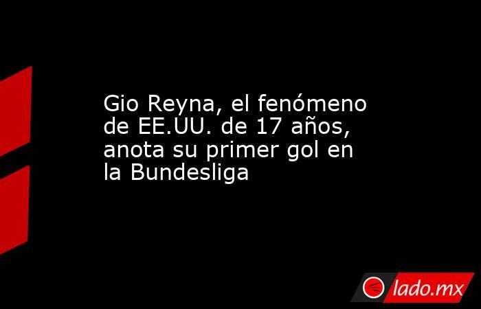 Gio Reyna, el fenómeno de EE.UU. de 17 años, anota su primer gol en la Bundesliga. Noticias en tiempo real