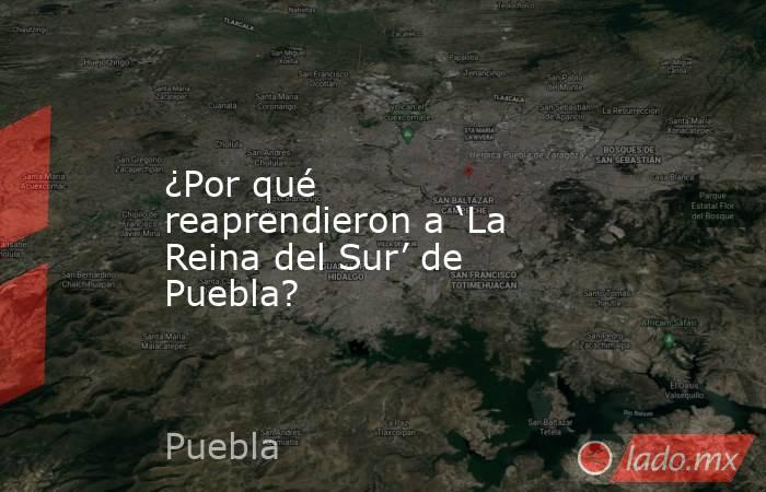 ¿Por qué reaprendieron a 'La Reina del Sur' de Puebla?. Noticias en tiempo real