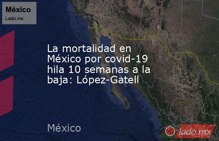 La mortalidad en México por covid-19 hila 10 semanas a la baja: López-Gatell. Noticias en tiempo real