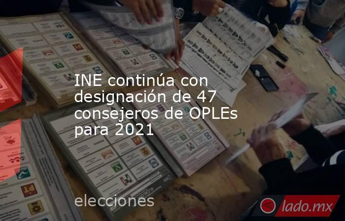 INE continúa con designación de 47 consejeros de OPLEs para 2021. Noticias en tiempo real