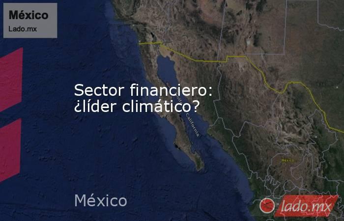 Sector financiero: ¿líder climático?. Noticias en tiempo real