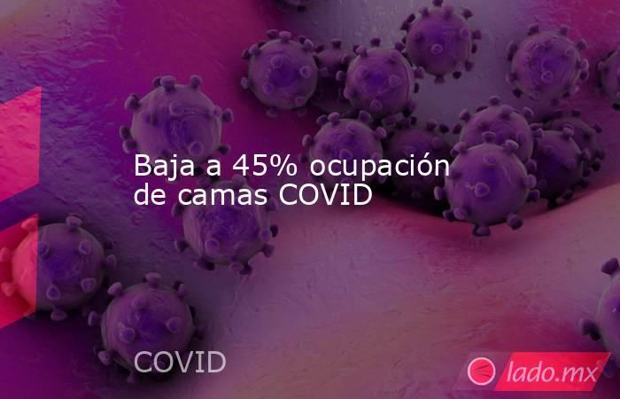 Baja a 45% ocupación de camas COVID. Noticias en tiempo real