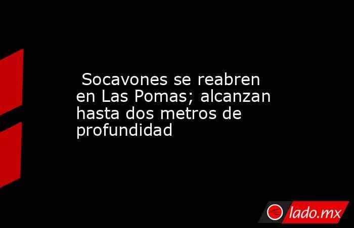 Socavones se reabren en Las Pomas; alcanzan hasta dos metros de profundidad. Noticias en tiempo real
