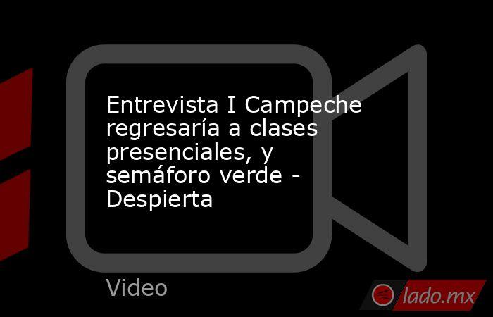 Entrevista I Campeche regresaría a clases presenciales, y semáforo verde - Despierta. Noticias en tiempo real