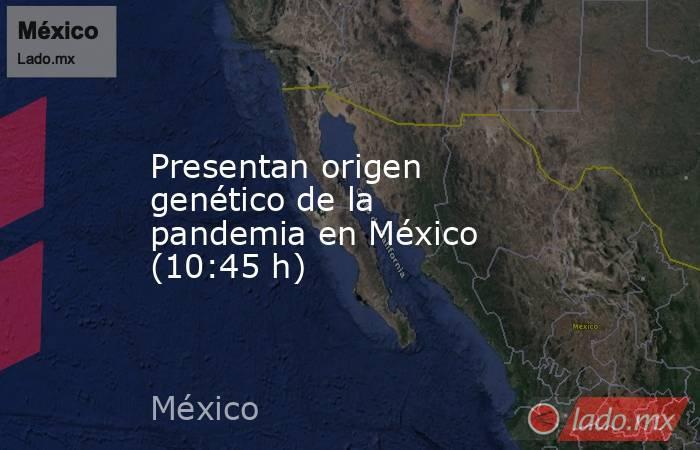 Presentan origen genético de la pandemia en México (10:45 h). Noticias en tiempo real