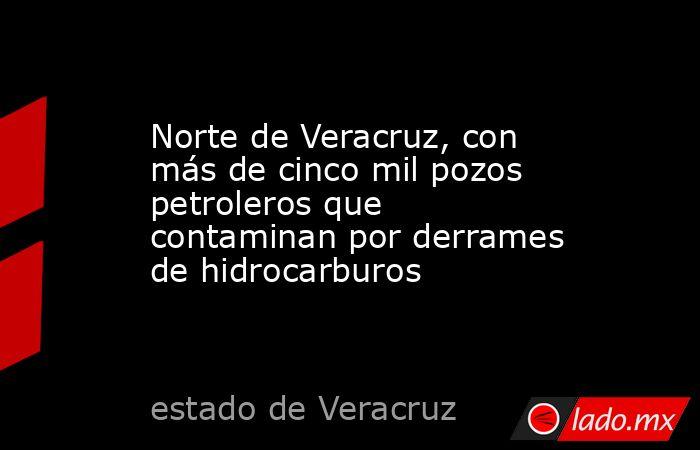 Norte de Veracruz, con más de cinco mil pozos petroleros que contaminan por derrames de hidrocarburos. Noticias en tiempo real