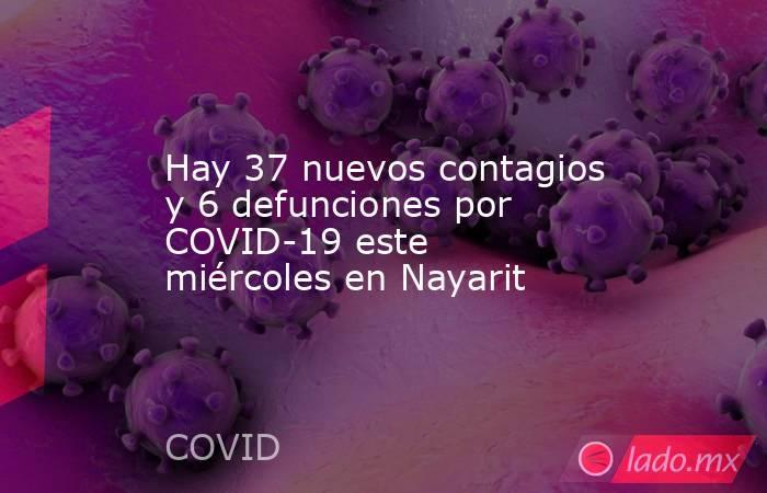 Hay 37 nuevos contagios y 6 defunciones por COVID-19 este miércoles en Nayarit. Noticias en tiempo real
