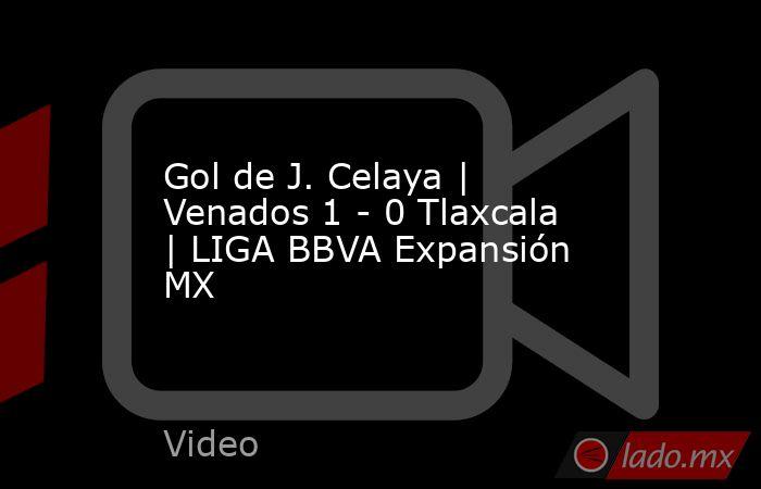 Gol de J. Celaya   Venados 1 - 0 Tlaxcala   LIGA BBVA Expansión MX. Noticias en tiempo real