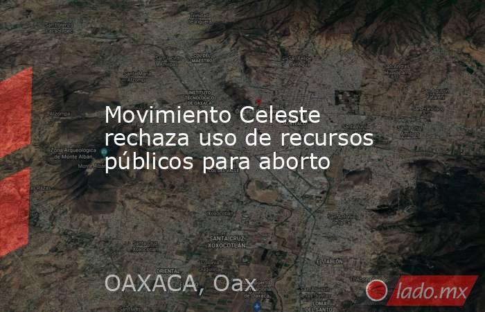 Movimiento Celeste rechaza uso de recursos públicos para aborto. Noticias en tiempo real