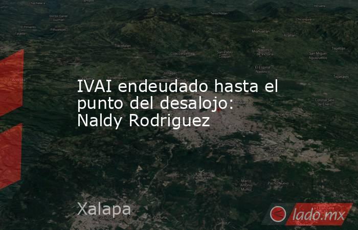 IVAI endeudado hasta el punto del desalojo: Naldy Rodriguez. Noticias en tiempo real