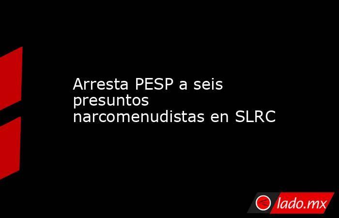 Arresta PESP a seis presuntos narcomenudistas en SLRC. Noticias en tiempo real
