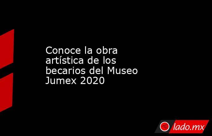 Conoce la obra artística de los becarios del Museo Jumex 2020. Noticias en tiempo real