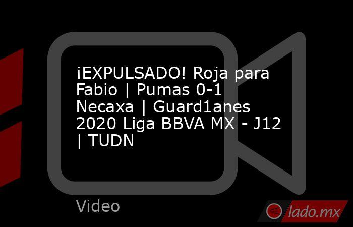 ¡EXPULSADO! Roja para Fabio | Pumas 0-1 Necaxa | Guard1anes 2020 Liga BBVA MX - J12 | TUDN. Noticias en tiempo real