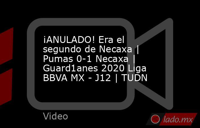 ¡ANULADO! Era el segundo de Necaxa | Pumas 0-1 Necaxa | Guard1anes 2020 Liga BBVA MX - J12 | TUDN. Noticias en tiempo real