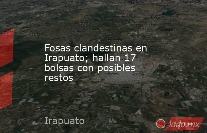 Fosas clandestinas en Irapuato; hallan 17 bolsas con posibles restos. Noticias en tiempo real