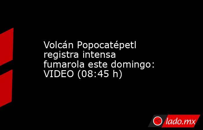 Volcán Popocatépetl registra intensa fumarola este domingo: VIDEO (08:45 h). Noticias en tiempo real