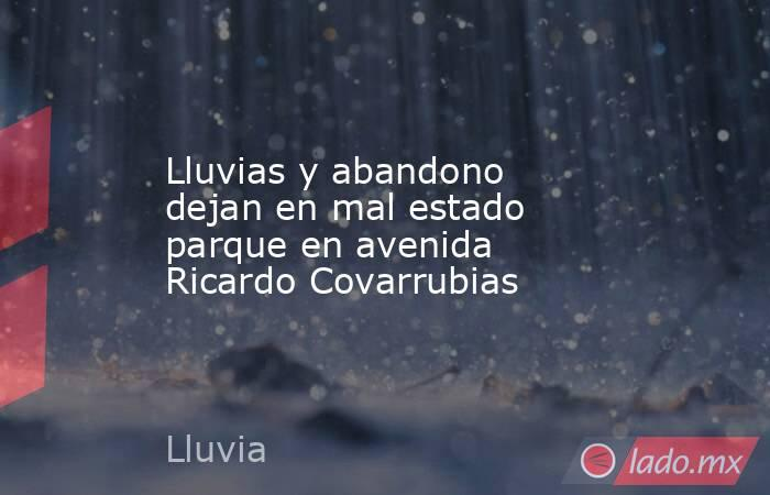 Lluvias y abandono dejan en mal estado parque en avenida Ricardo Covarrubias . Noticias en tiempo real