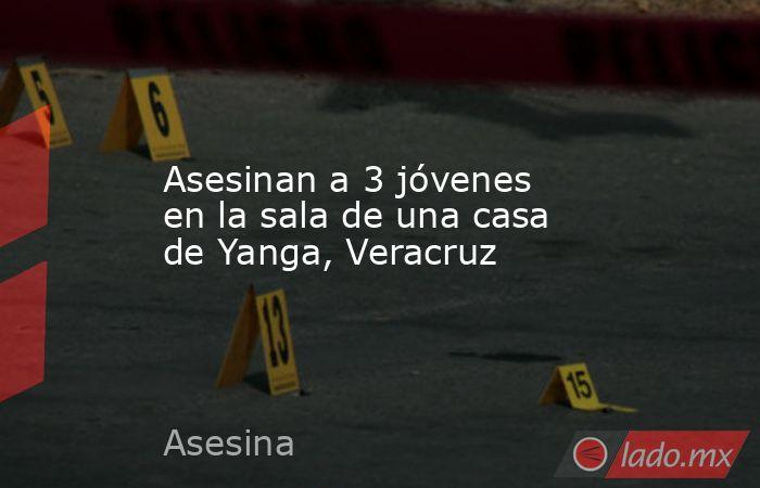 Asesinan a 3 jóvenes en la sala de una casa de Yanga, Veracruz. Noticias en tiempo real