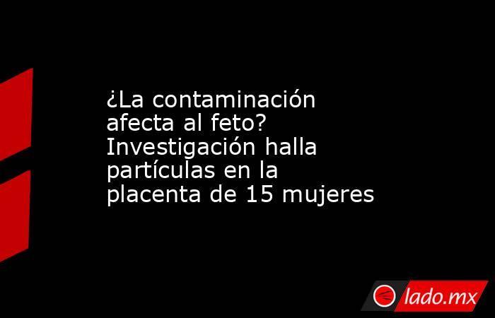 ¿La contaminación afecta al feto? Investigación halla partículas en la placenta de 15 mujeres. Noticias en tiempo real