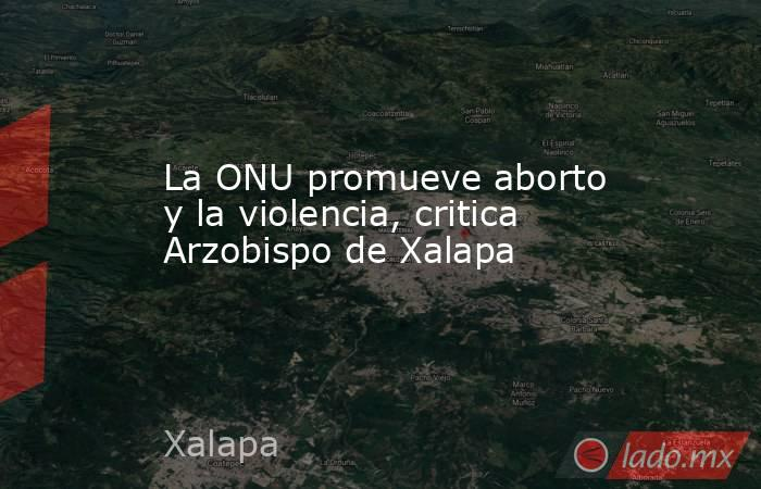 La ONU promueve aborto y la violencia, critica Arzobispo de Xalapa. Noticias en tiempo real