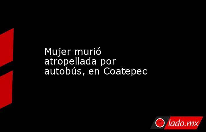 Mujer murió atropellada por autobús, en Coatepec. Noticias en tiempo real