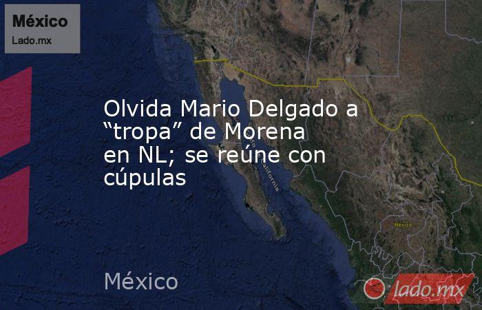 """Olvida Mario Delgado a """"tropa"""" de Morena en NL; se reúne con cúpulas. Noticias en tiempo real"""