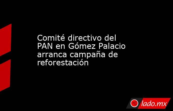 Comité directivo del PAN en Gómez Palacio arranca campaña de reforestación . Noticias en tiempo real