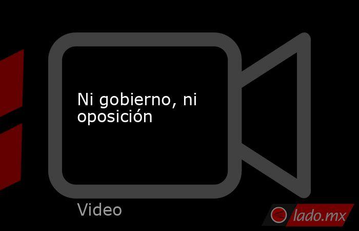 Ni gobierno, ni oposición. Noticias en tiempo real