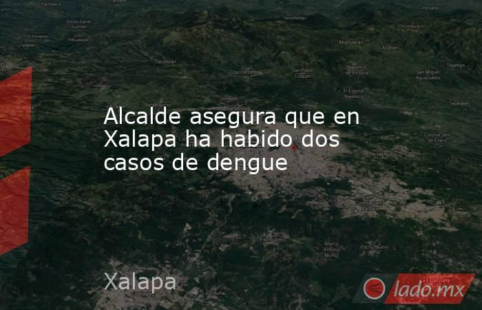 Alcalde asegura que en Xalapa ha habido dos casos de dengue. Noticias en tiempo real