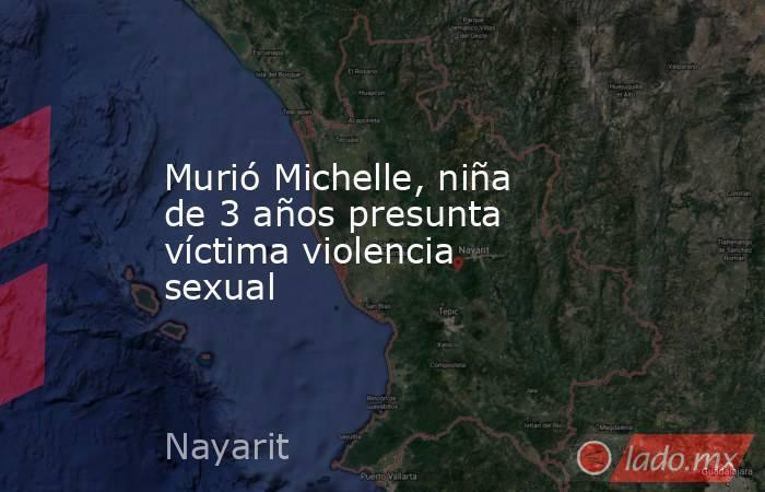Murió Michelle, niña de 3 años presunta víctima violencia sexual. Noticias en tiempo real