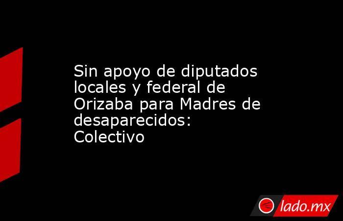 Sin apoyo de diputados locales y federal de Orizaba para Madres de desaparecidos: Colectivo. Noticias en tiempo real