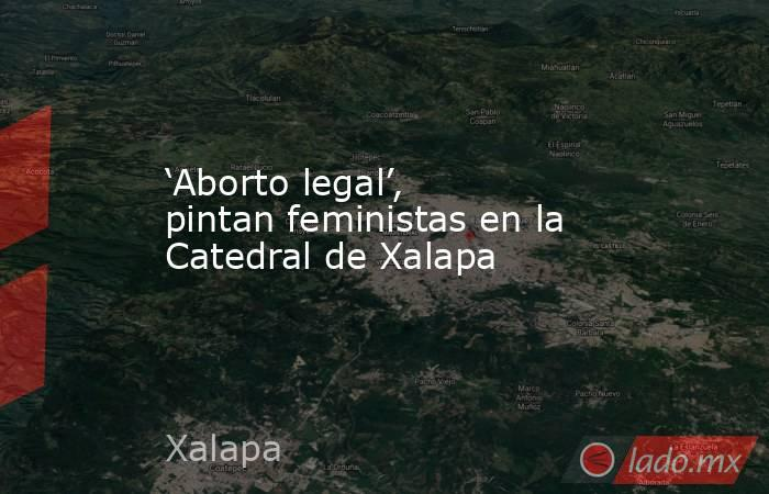 'Aborto legal', pintan feministas en la Catedral de Xalapa. Noticias en tiempo real