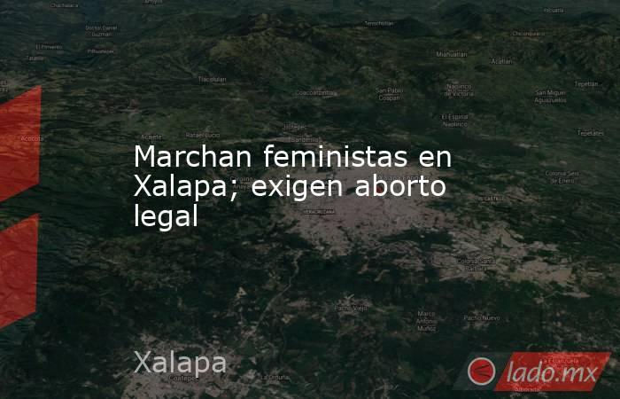 Marchan feministas en Xalapa; exigen aborto legal. Noticias en tiempo real
