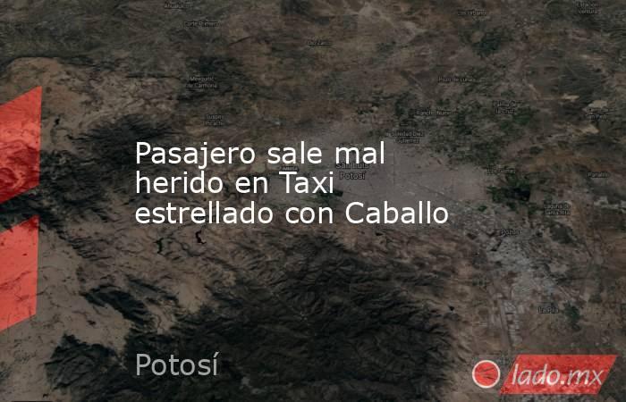 Pasajero sale mal herido en Taxi estrellado con Caballo. Noticias en tiempo real