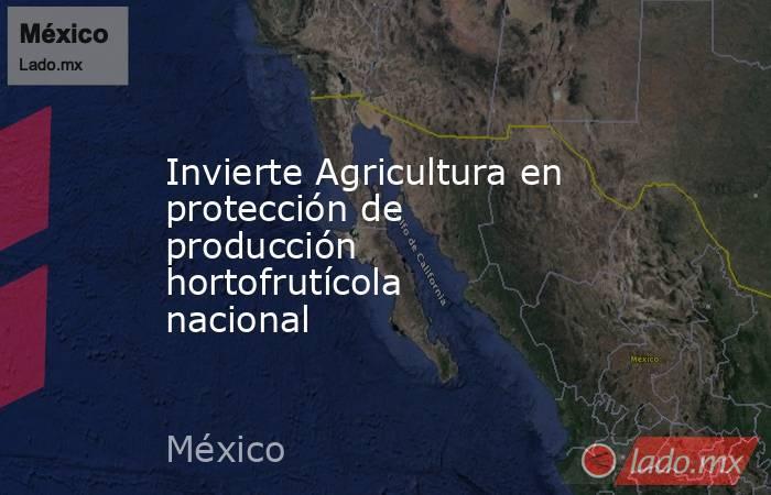Invierte Agricultura en protección de producción hortofrutícola nacional. Noticias en tiempo real