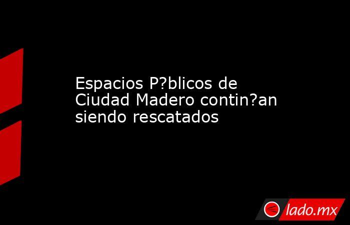 Espacios P?blicos de Ciudad Madero contin?an siendo rescatados. Noticias en tiempo real