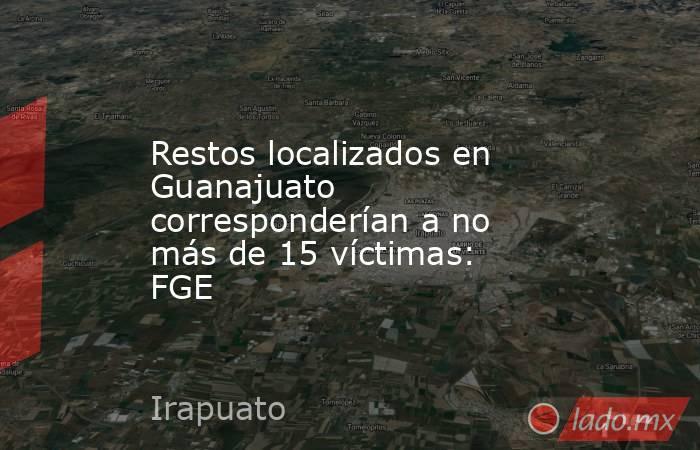 Restos localizados en Guanajuato corresponderían a no más de 15 víctimas: FGE. Noticias en tiempo real