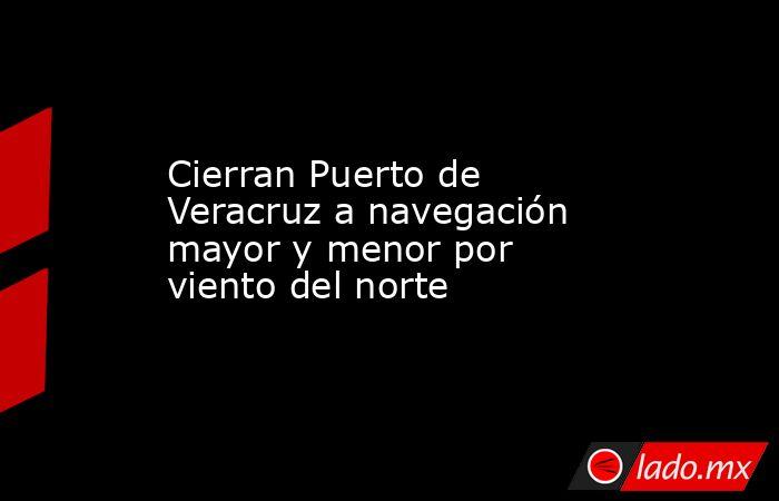 Cierran Puerto de Veracruz a navegación mayor y menor por viento del norte. Noticias en tiempo real