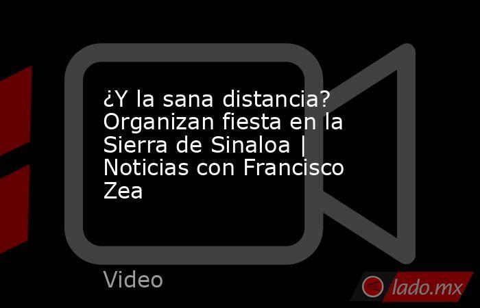 ¿Y la sana distancia? Organizan fiesta en la Sierra de Sinaloa   Noticias con Francisco Zea. Noticias en tiempo real