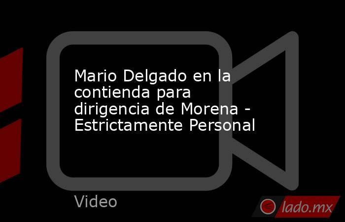 Mario Delgado en la contienda para dirigencia de Morena - Estrictamente Personal. Noticias en tiempo real