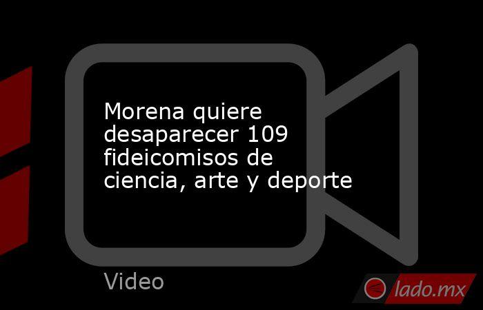 Morena quiere desaparecer 109 fideicomisos de ciencia, arte y deporte. Noticias en tiempo real