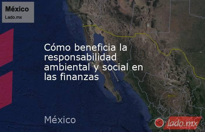 Cómo beneficia la responsabilidad ambiental y social en las finanzas. Noticias en tiempo real